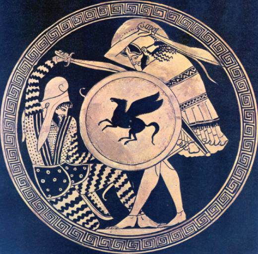 Battle of Platae - Greek and Persian Warrior Kylix 5th Century BCE