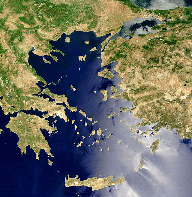 Aegean Sea - Aegean Sea Satellite Photo