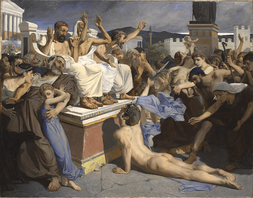Battle of Marathon - Pheidippides giving word of victory after the Battle of Marathon